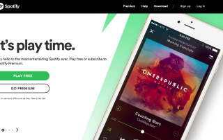 Spotify Call To Action Lead Generation Website